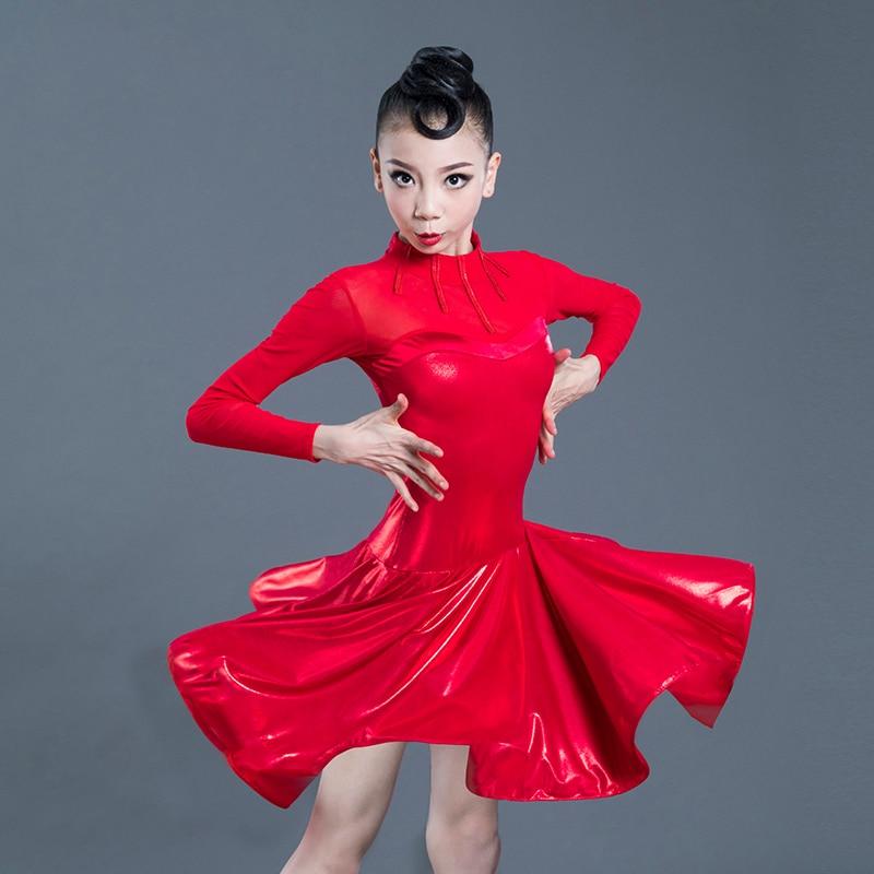 Robes de concours de Danse latine rouge vêtements de pratique robes de Danse latine pour les filles Salsa salle de bal Tango Chacha Robe Danse SL2268
