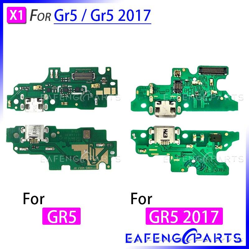 Док-станция с usb-портом для зарядки, разъем Gr 5, зарядная плата, микрофон, гибкий кабель для HuaWei Gr5 2017