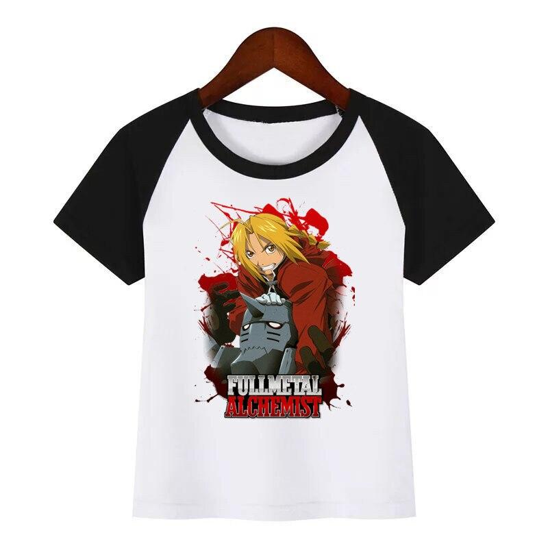 t shirt diy Children New Cartoon T-shirt Fullmetal Alchemist Diy Print T Shirt Baby Kids Funny Clothes Children Summer T-shirt