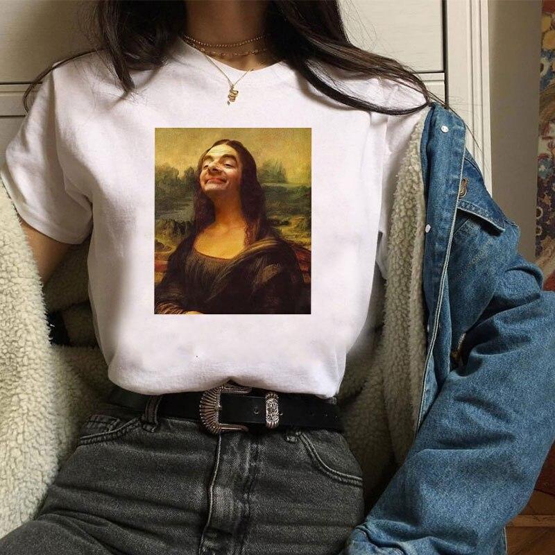 Мона Лиза X Мистер Бин рябина Аткинсон улыбка забавная футболка классная Повседневная Pride Футболка женская унисекс модная футболка ривердейл футболка