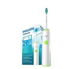 Philips HX3216 brosse à dents électrique Sonicare avec têtes de brosse faciles à cliquer et lumière indique létat de la batterie pour Aduls Rechargeable