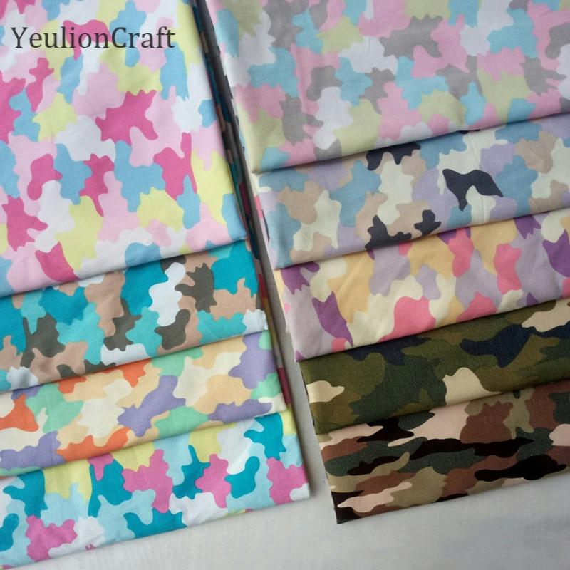 Chzimade, 1M, tela estampada de algodón Spandex camuflaje para bolsa de camuflaje, tela de tela para exteriores, Textiles para el hogar Diy