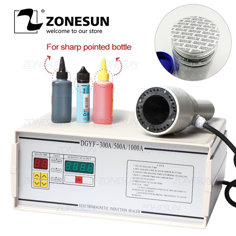 ZONESUN FK-300 صغيرة قطرها الألومنيوم احباط فيلم الختم آلة للطب حاد وأشار زجاجة البلاستيك بالقطارة زجاجة