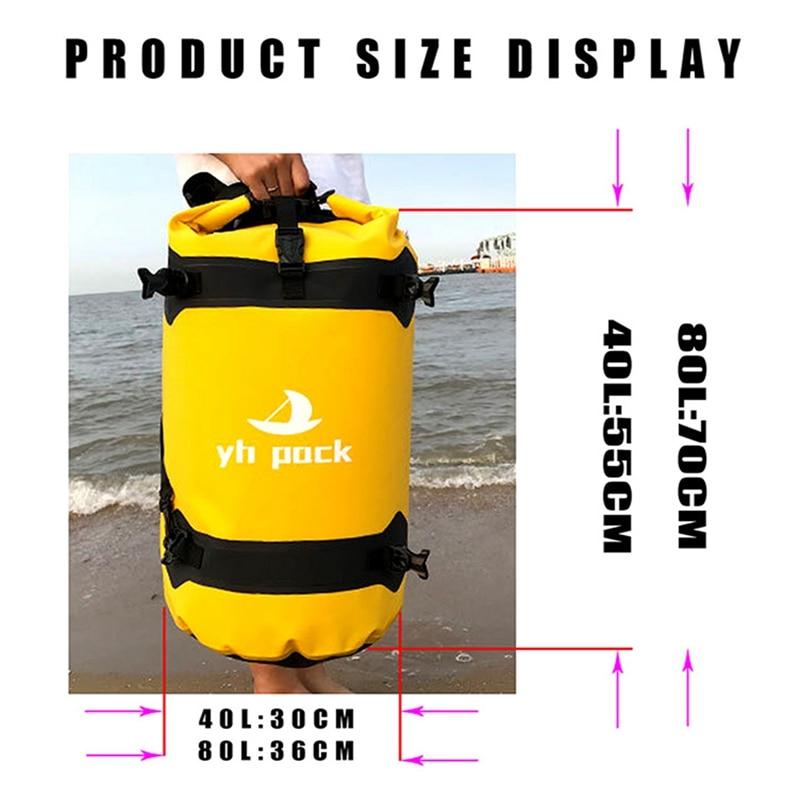 Waterproof Motorcycle Travel Bag Motorcycle Seat Backpack Outdoor Quick-drying Suitcase 40/80L Waterproof Liner enlarge