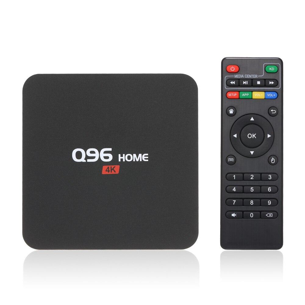 Q96 casa inteligente android 8.1 caixa de tv 2.4g wifi h.265 vp9 hdr10 100m lan smart tv caixa rk3229 quad core uhd 4k media player