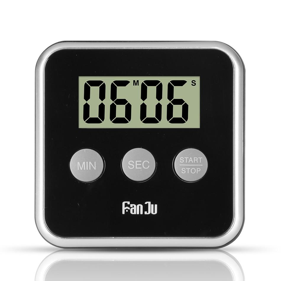 Nuevo temporizador Digital FanJu FJ231, Cuenta atrás magnética para cocina, gran pantalla, alarma fuerte, fácil de usar, Mini soporte trasero, temporizador de cocina