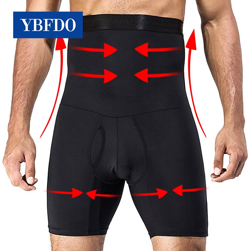 YBFDO Men's Shapers Shapewear Slimming Pants Fitness High Waist Stretch Abdomen Tummy Control Underw