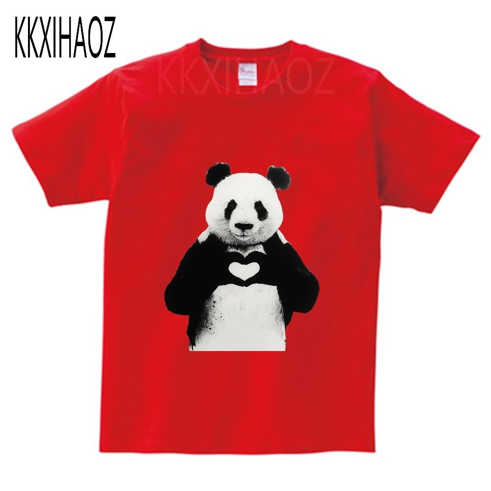 Children Cartoon Panda Print T-shirt Boy Girls Summer Short Sleeve Tee Tops Costume Kids Clothing Baby Cotton Cute T Shirt NN недорого