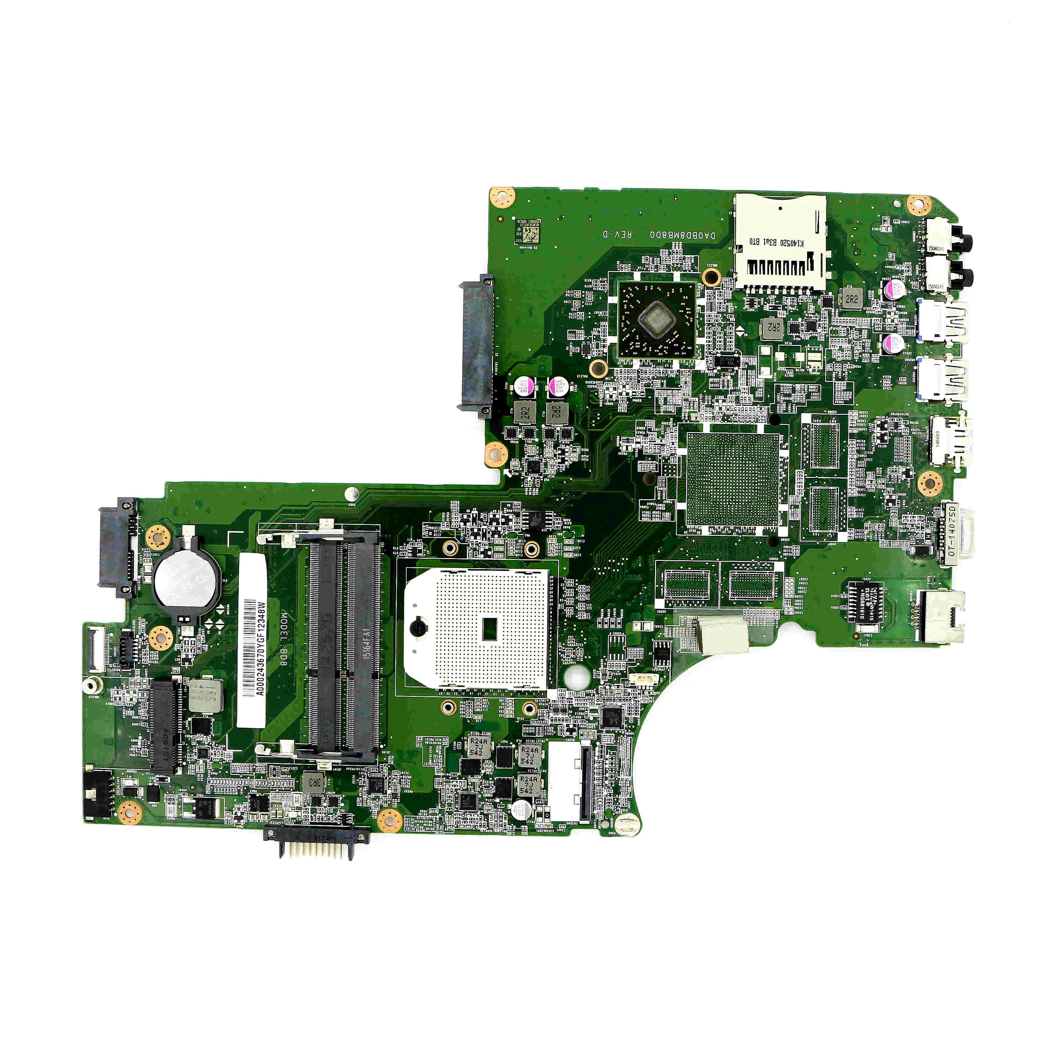 A000243670 - UMA FS1 MOTHERBOARD DA0BD8MB8D0 For TOSHIBA SATELLITE L75D-A