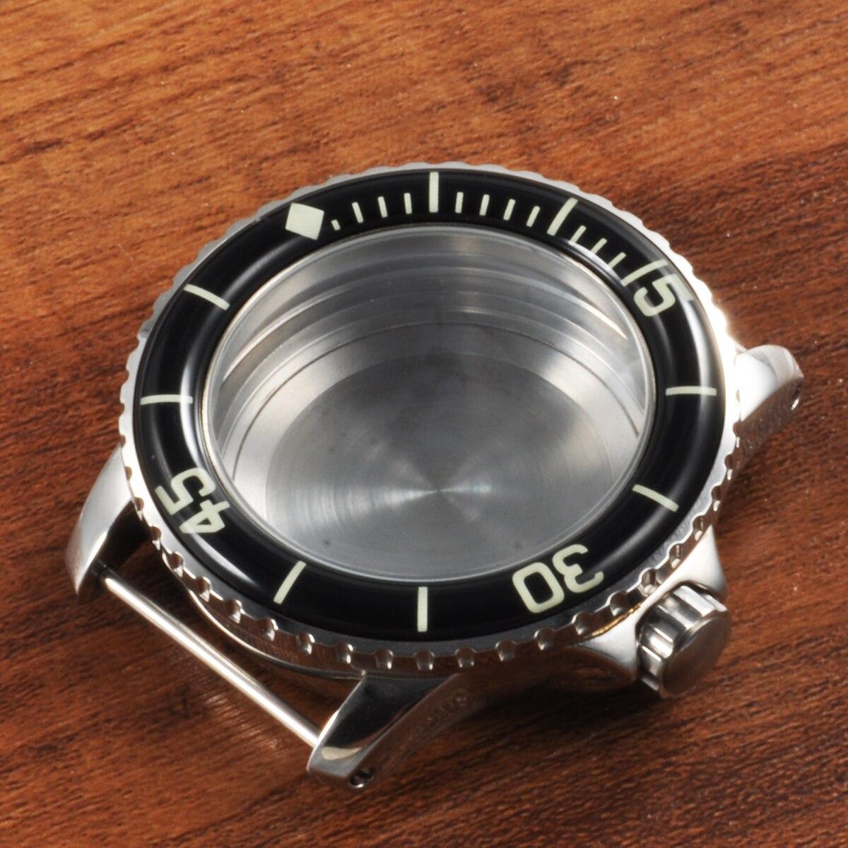 Corgeut Relógio Masculino Asséptico Case Ajuste Eta2836 Miyota 821a – 8215 Movimento Automático Mecânico Preto Círculo 316l ss 45mm