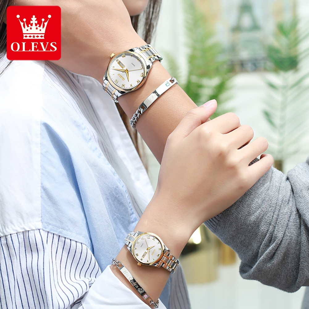 Amantes Relogios Paired Watch For Couple Lover Watches Men And Women Leather Quartz Wristwatches Lov