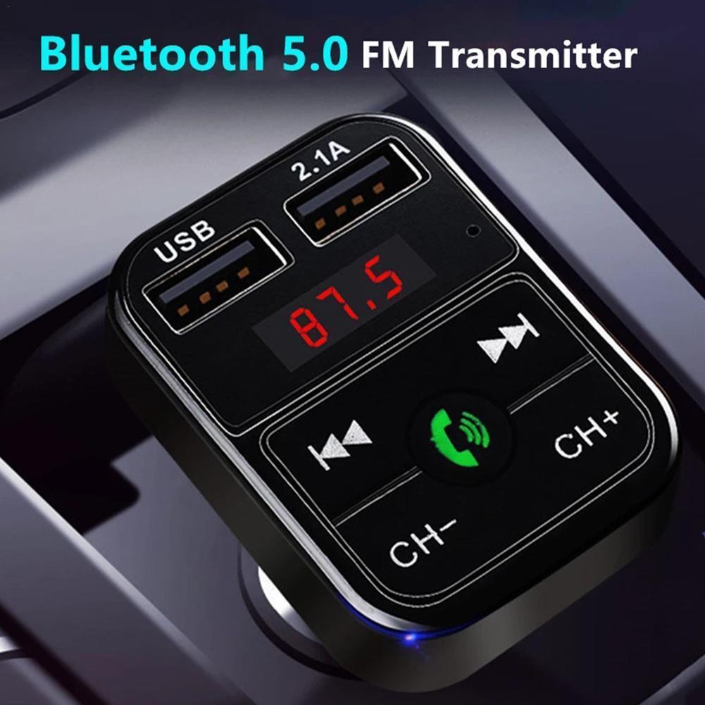 Автомобильное зарядное устройство, 3 цвета, USB 5,0, Bluetooth, FM-трансмиттер, модулятор, автомобильный комплект громкой связи, а, быстрое зарядное у... автомобильное зарядное устройство one бирюзового цвета
