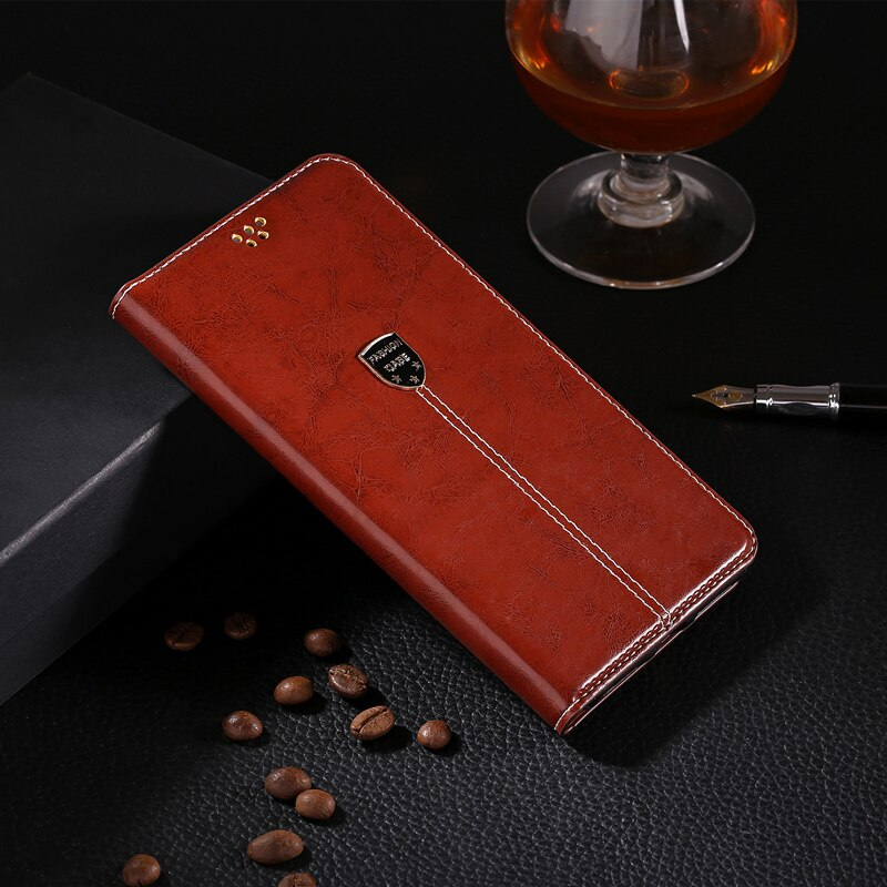 Para LG F60 D390 D390N MS395 D392 funda de teléfono de cuero de poliuretano funda trasera de silicona suave para LG F60 funda abatible