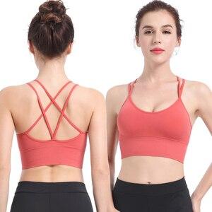 Sports Top Vest Beauty Back Sports Bra Top Shock-Proof Gathering High-Intensity Sport Bh Yoga Underwear Fitness Bra