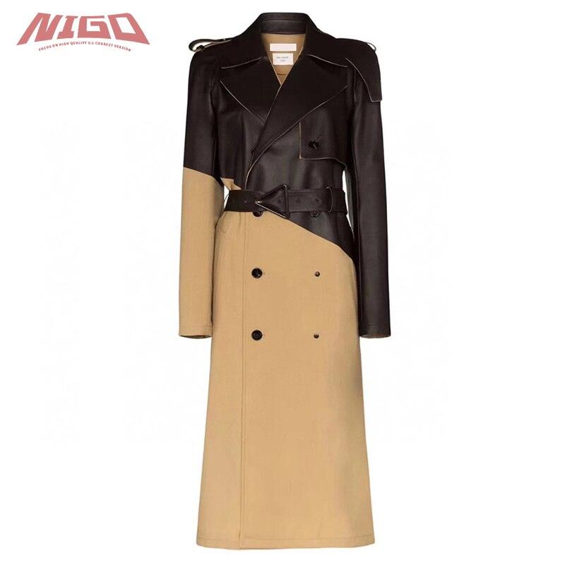 NIGO 21ss BV Women's Leather Trench Coat Code@BV3