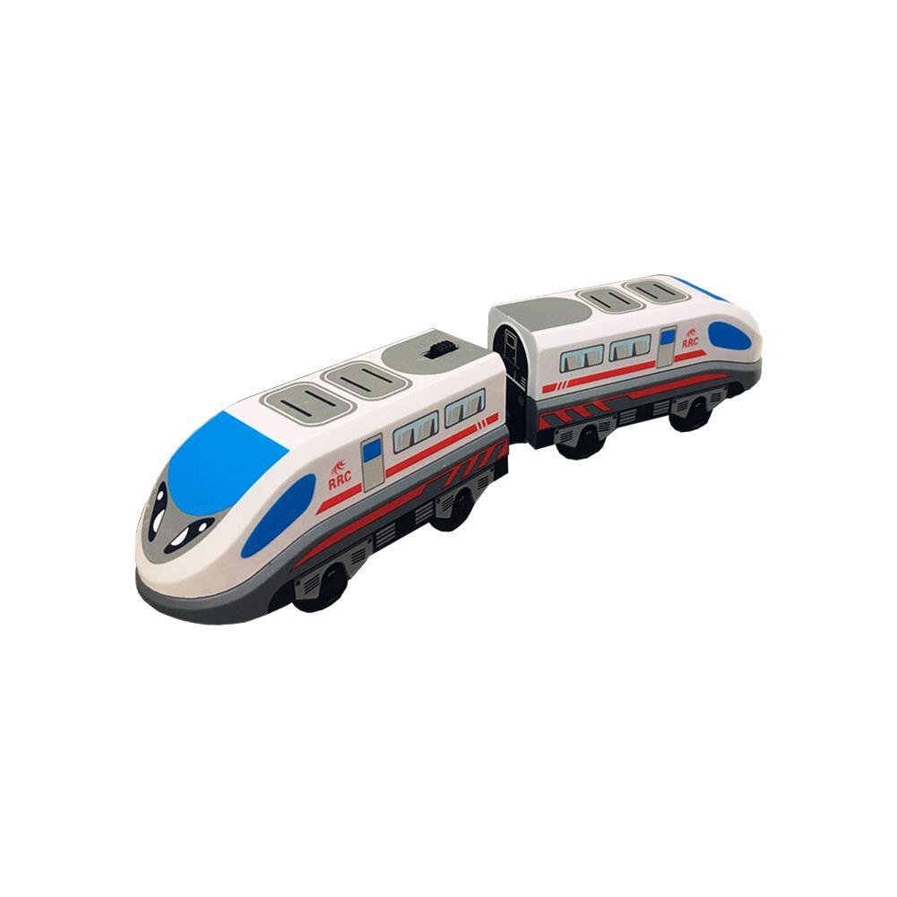 Trem elétrico trilha magnética hape steam-era trem de carga clássico locomotiva infantil brinquedo para thomass brio trilha de madeira