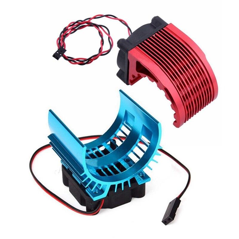 2 Pcs Metal Heat Sink with 5V Cooling Fan: 1Pcs for Hobbywing Leopard RC Brushless Motor Engine 42Mm 1515 812 T8 K80 K82 & 1Pcs