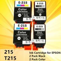 T215 215 Compatible ink Cartridge T-215 for EPSON WorkForce WF-100 WF100 printer cartridges black and color 2PK