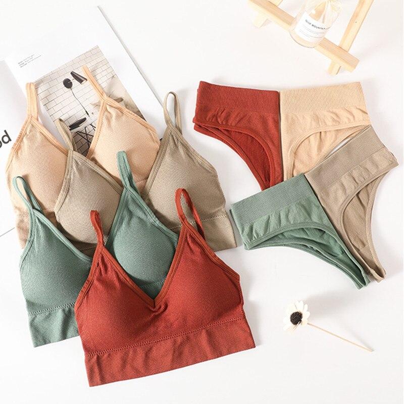 Sutiã feminino conjunto de lingerie de fitness conjunto de sutiã de cintura alta sutiã de cintura alta