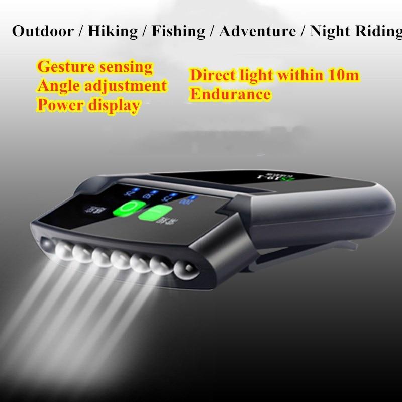 Мини перезаряжаемый светодиодный светильник, датчик движения тела, головной светильник USB, водонепроницаемый, флэш-светильник, уличный све...