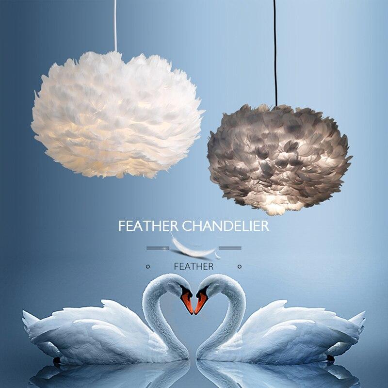 أضواء معلقة من الكريستال على شكل ريشة ، إضاءة زخرفية داخلية ، مثالية لغرفة الطفل أو غرفة النوم أو الزفاف.