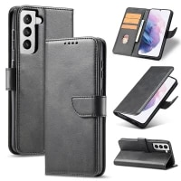 wallet case for samsung galaxy s21 plus premium leather phone cover with card slots kickstand magnetic closure protective shell
