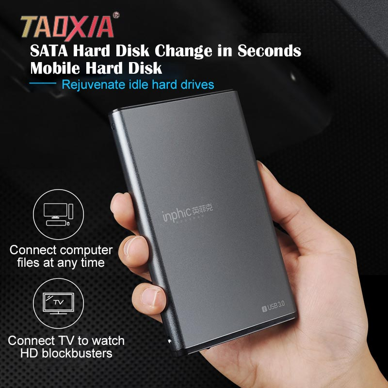 New 2.5-inch External usb3.0 Type-c Hard Disk Case Computer Mechanical Solid State Portable Disk Box HDD External Enclosure