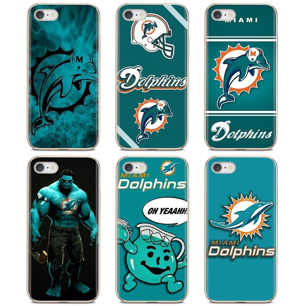 Miami-F-delfines S-US-Fútbol-C-Logotipo de equipo para Huawei Nova 2 2i 3 3i Y3...