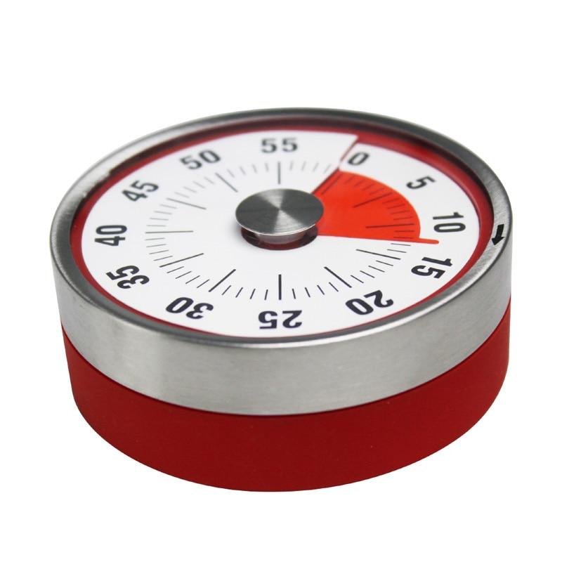 Temporizador de cocina, Alarma para encimera de cocina mecánica magnética, reloj de acero, Manual, cuenta atrás, recordatorio de horneado, SNO88
