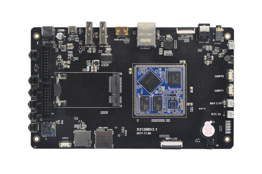 X3128 Development Board RK3128 Quad core a7 1G / 8G open source Android6.0 Linux low cost