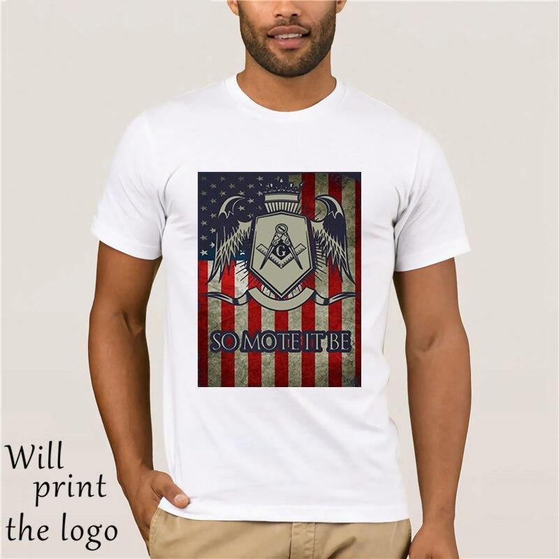 Freemason Shirt- So Mote It Be American Flag Masonic T Shirt