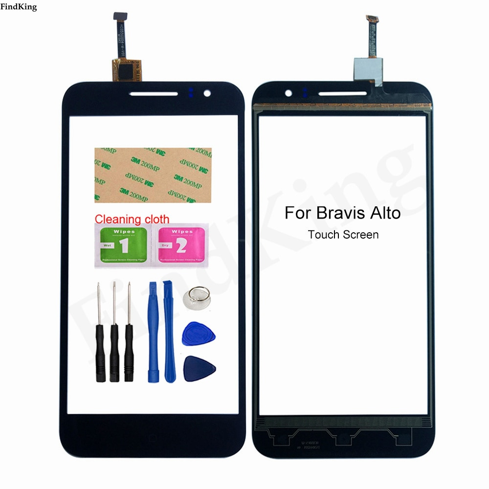 Touch Screen Glass For Bravis Alto Touch Screen Front Glass Digitizer Panel Sensor 5.5'' Mobile Phon
