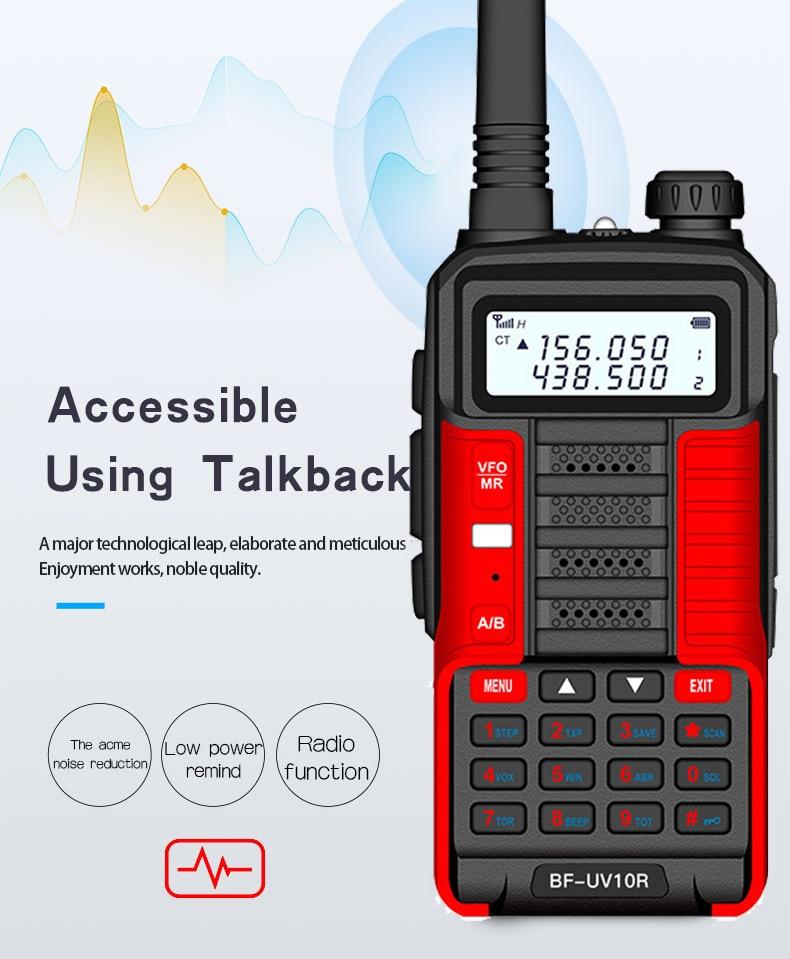2021 New BaoFeng UV-10R Two Way Radio Walkie Talkie Ham CB Radio Transceiver 30km Long Range Portable Radio For Hunt Forest City enlarge