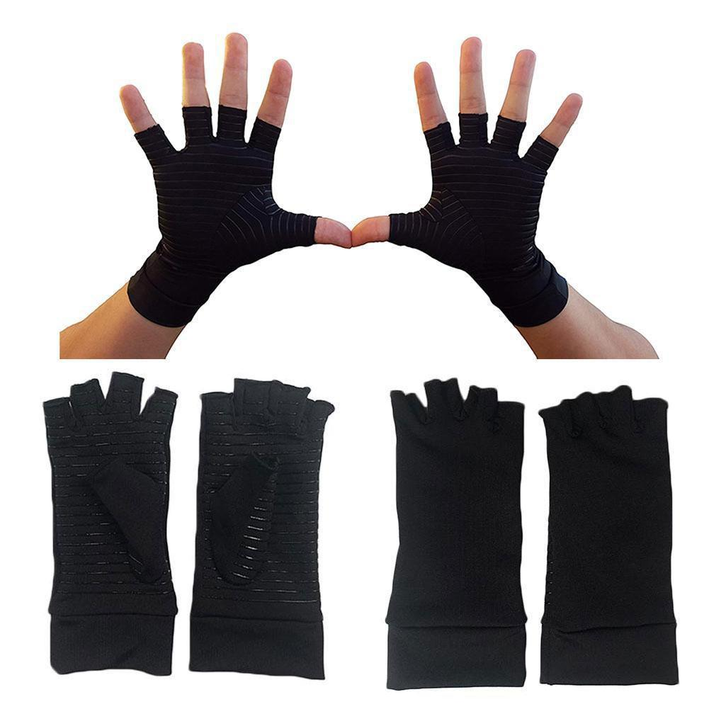 1 par de guantes para artritis dolor alivio terapia guantes para carpiano cobre hombres escribir guantes túnel Anti-slip W T8H0