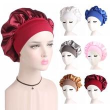 Women's Satin Sleeping Hat Night Sleep Cap Hair Care Bonnet Nightcap For Women Men Unisex Cap Comfor