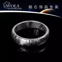 natural gibeon iron meteorite fashion ring without plated jewelry primary colors rings women men size 6 7 8 9 10 11 12 aaaaa