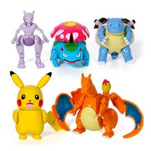 Takara Tomy Pokemon Poke Vervorming Ball Cijfers Speelgoed Pikachu Charizard Mewtwo Squirtle Action Figure Kids Model Poppen