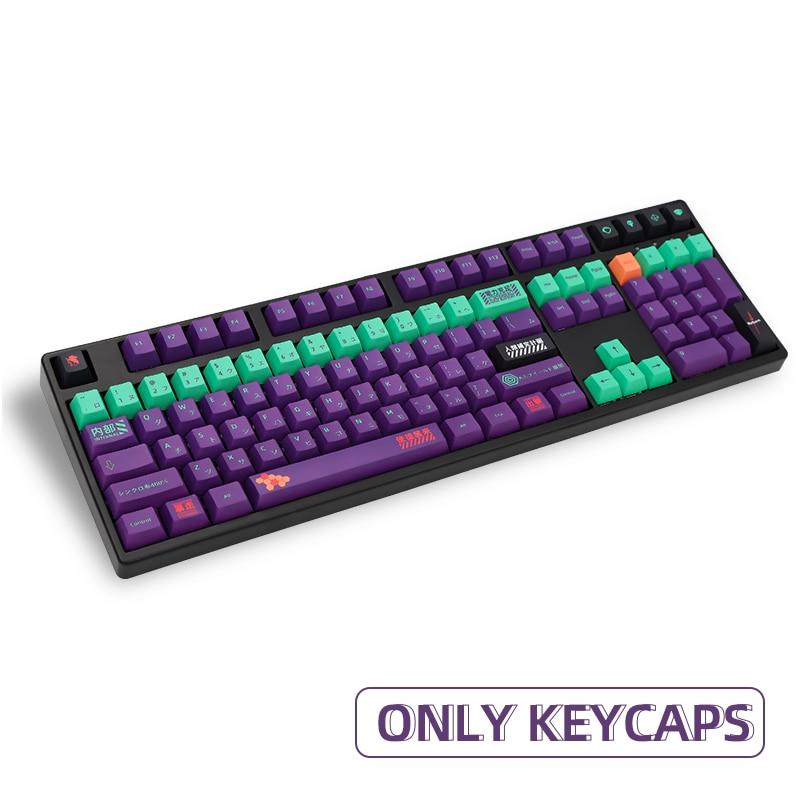 113 مفاتيح PBT قبعات صبغ الفرعية الكرز الشخصي اليابانية شخصية Keycap ل Cherry MX التبديل 61/87/104/108 لوحة المفاتيح الميكانيكية
