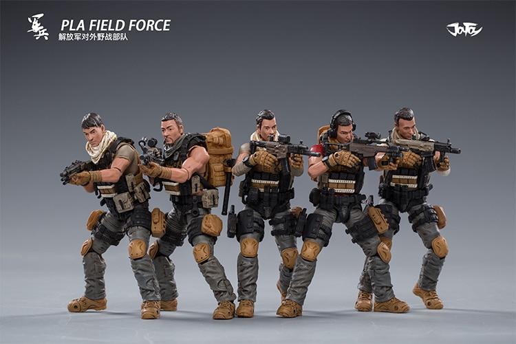 ¡JoyToy 1/18 PLA ejército Fild Force PVC 5 figuras de acción en Stock ahora!