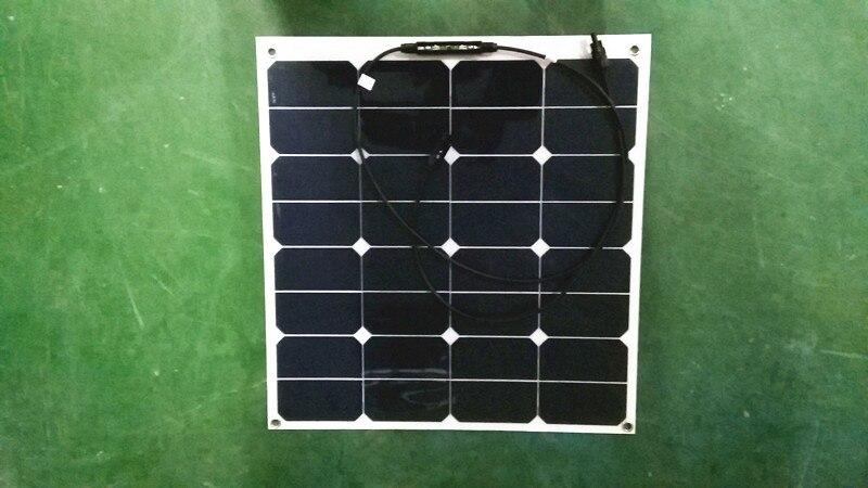 Proveedor de oro 50W flexible portátil plegable sunpower mini panel solar