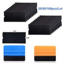 EHDIS 20/50/100 шт фетровая ткань для 10 см Ракель углеродного волокна виниловая пленка для оклеивания автомобилей, Обёрточная бумага Не оставляющий царапин оконный скребок оттенок Обёрточная бумага пинг инструменты