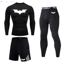 High quality Men's long underwear set winter Thermal underwear Compression Tights Men's Clothing Win