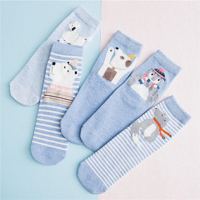 KingDeng Winter Kawaii Calcetines para mujer Harajuku Cartoon Cute Art Calcetín estético cálido para mujer Streetwear Estilo coreano Mujeres