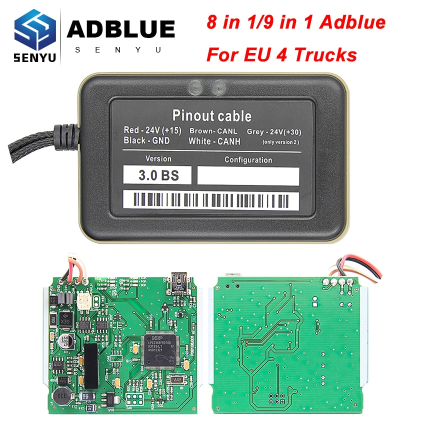 High Quality Adblue 8 in 1 Full Chip Version Adblue Emulator 9 in1 For EURO 4 Truck For Volvo AdBlue Emulator Box For Scania