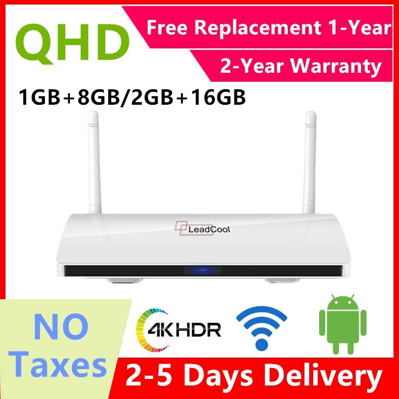 Genuine Leadcool QHDTV Android9.0 Smart TV Box French Warehouse Duty Free Quad-core8G 16Gsmart  euro