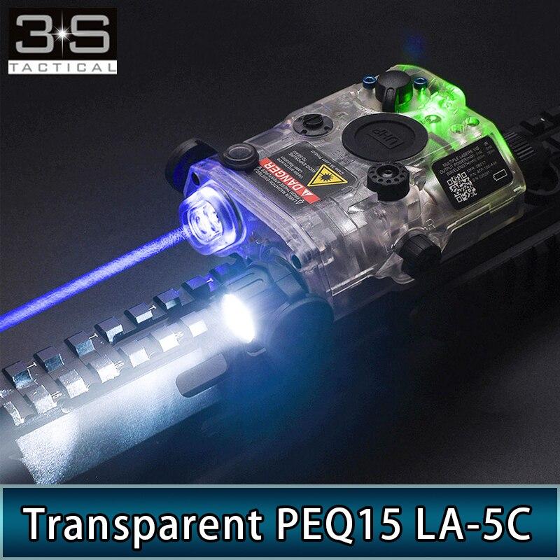 NUEVO LÁSER táctico Surefir transparente PEQ15 LA-5C UHP, Láser de punto rojo, láser IR azul, Láser de punto verde, láser PEQ Airsoft Picatinny