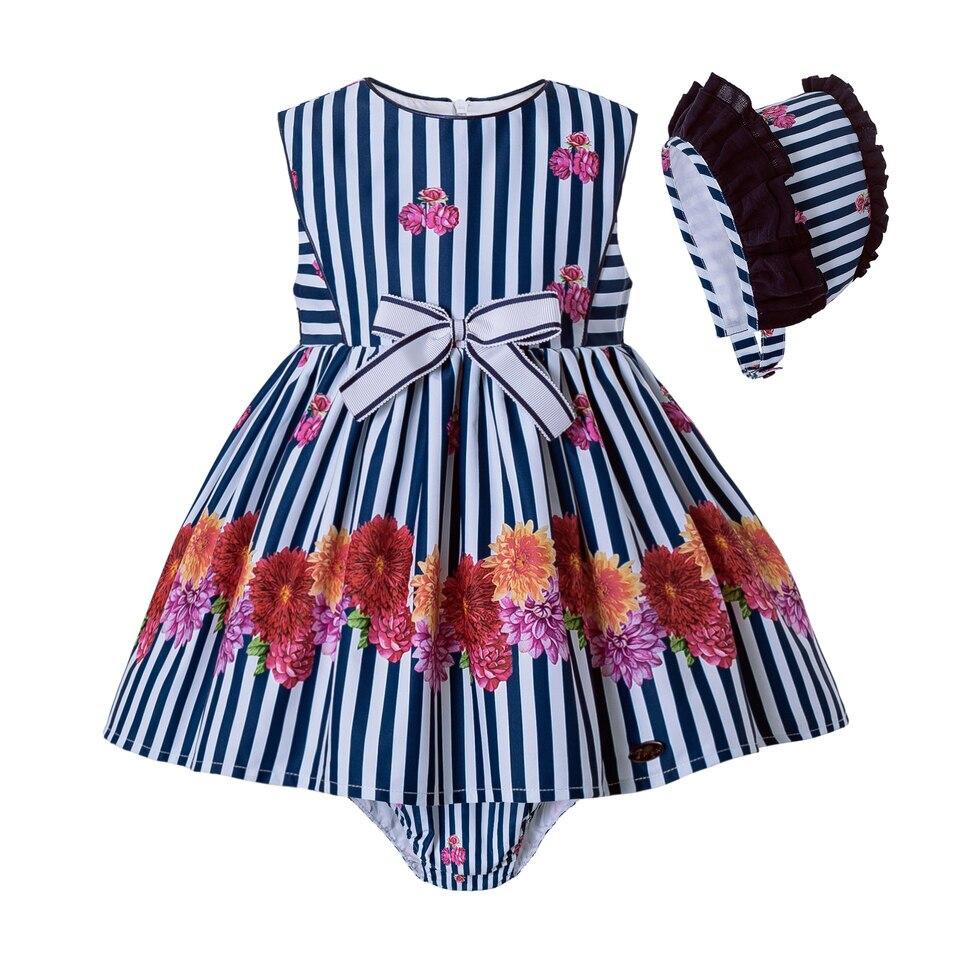 Pettigirl/Летняя одежда для малышей; Одежда для малышей с принтом в темно-синюю полоску; Штаны для девочек; Одежда для малышей; Одежда для девочек