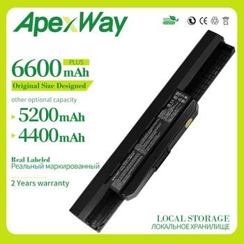 ApexWay Nouvelle batterie d'ordinateur portable A31-K53 A32-K53 A41-K53 pour Asus A43 A43E A53S K43E K43U K43S K43SJ K53 K53T K53S K53SV X54 X54H X44H
