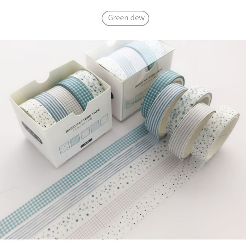 5 unids/set Pino niebla bala diario Washi Tape Scrapbooking DIY cinta adhesiva etiqueta adhesiva cinta adhesiva embalaje de regalo