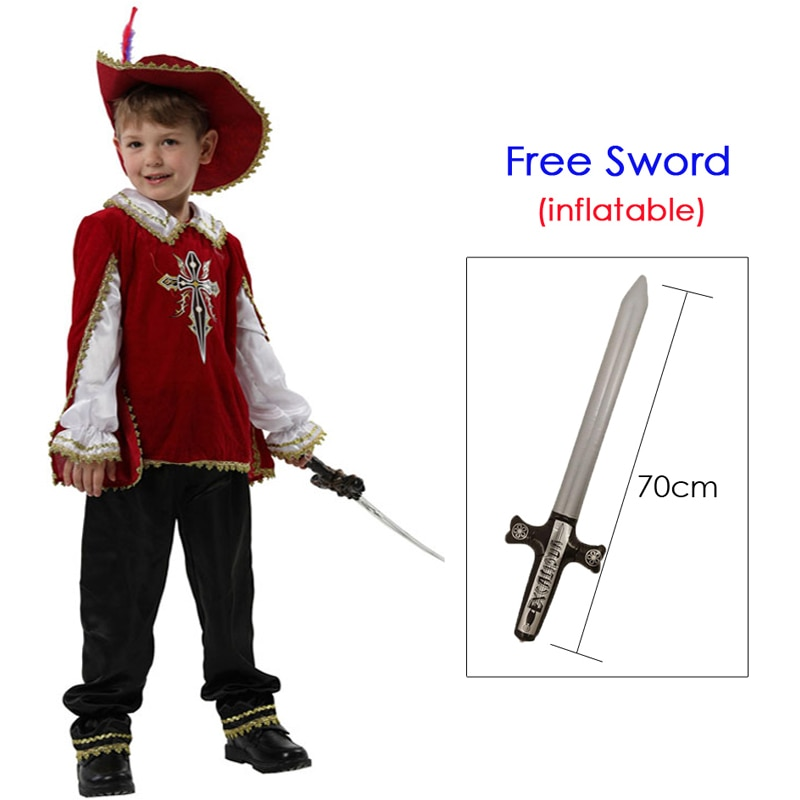 زي الفارس الأحمر للأطفال من القرون الوسطى ، للأولاد ، محارب يوناني روماني ، كرنفال الهالوين ، ماردي غرا ، فستان فاخر